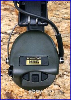 MSA Sordin Supreme Pro X/L Gel Ear Seals OD Green Original Owner