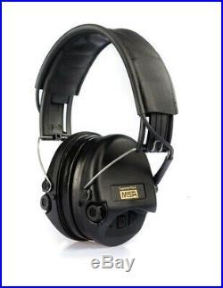 MSA Sordin Supreme Pro X Premium Edition Electronic Earmuff Black Leather Band
