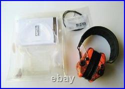MSA Sordin Supreme Pro-X with LED Electronic EarMuff (Orange-Camo Cups)