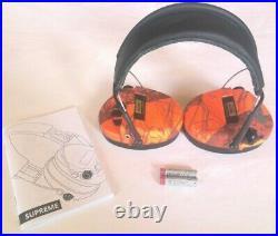 MSA Sordin Supreme Pro-X with LED Electronic EarMuff (Orange-Camo Cups) NEW