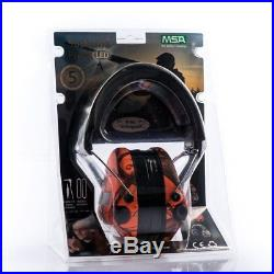 MSA Sordin Supreme Pro X with LED Light Electronic EarMuff with black leather