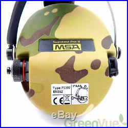 MSA Sordin Supreme Pro X with LED Light Electronic Shooting EarMuff, Full Camo