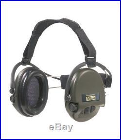 MSA Sordin Supreme Pro X with green cups Neckband Electronic Earmuff, slim-d