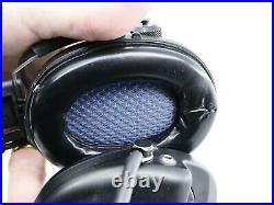 MSA Supreme Pro-X Black Cups, Black Headband. Preowned, well taken care of
