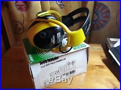 MSA left/RIGHT Cut Off Pro Safety Electronic Ear Muff Headset Headband Yellow