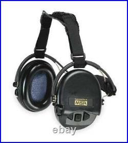 Msa 10082166 Behind-The-Head Electronic Ear Muffs, 18 Db, Supreme Pro-X, Black