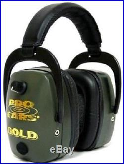 NEW Pro Ears GS-DPM-G GREEN Pro Mag Gold NRR 30 Protective Electronic Earmuffs