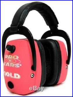 NEW Pro Ears GS-DPM-P PINK Pro Mag Gold NRR 30 Protective Electronic Earmuffs