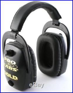 NEW Pro Ears GS-DPS-B BLACK Pro Slim Gold NRR 28 Protective Electronic Ear Muffs