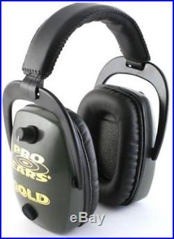 NEW Pro Ears GS-DPS-G GREEN Pro Slim Gold NRR 28 Protective Electronic Ear Muffs