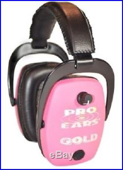 NEW Pro Ears GS-DPS-P PINK Pro Slim Gold NRR 28 Protective Electronic Ear Muffs