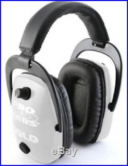 NEW Pro Ears GS-DPS-W WHITE Pro Slim Gold NRR 28 Protective Electronic Ear Muffs