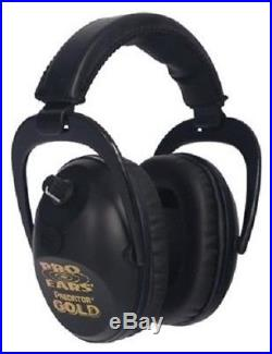 NEW Pro Ears GS-P300-B BLACK Predator Gold NRR 26 Electronic Ear Muffs