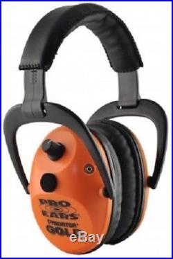 NEW Pro Ears GS-P300-O ORANGE Predator Gold NRR 26 Electronic Ear Muffs