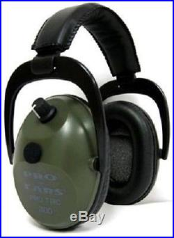 NEW Pro Ears GS-PT300-G GREEN Tac Plus Gold NRR 26 Electronic Ear Muffs N Style