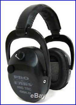 NEW Pro Ears GS-PTSTL-L-B BLACK Tac SC Gold NRR 25 Electronic Ear Muffs Lithium