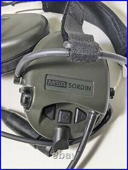 New In Box MSA Sordin Supreme Pro 76319 Neck Band + Mic Water Proof, OD Green
