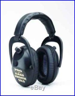 New ProEars GSP300B Predator Gold Series Electronic Ear Muffs in Black