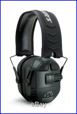 New Walker's Game Ear Ultimate Power Muff Quads Black GWP-XPMQB