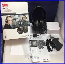 PELTOR 3M WS-100 Electronic Hearing Protector Headphones & Microphone/MINT Cond