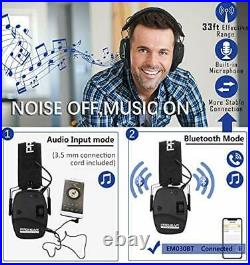 PROHEAR 030 Electronic Shooting Ear Protection Earmuffs with Bluetooth Black