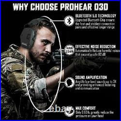 PROHEAR 030 Electronic Shooting Ear Protection Muffs with Bluetooth