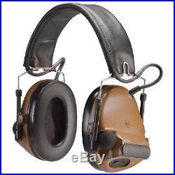 Peltor ComTac III Hearing Defender Electronic Earmuffs (NRR 20) Coyote Br. New