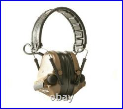 Peltor Comtac III Hearing Defender Gel Ear Cup Removable Cover Coyote Brown