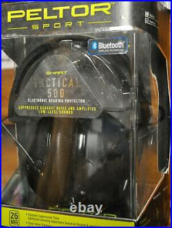 Peltor Sport 500 SmartTactical Electronic Hearing Protector with Bluetooth 26 NRR