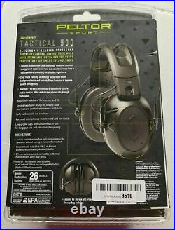 Peltor Sport Smart Tactical 500 Electronic Hearing Protector with Bluetooth NIB