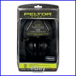 Peltor Sport Tactical 500 Earmuff Black Noise Reduction Rating 26 TAC500-OTH