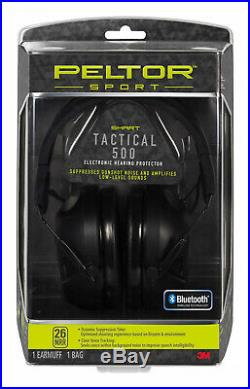 Peltor Sport Tactical 500 Electronic Hearing Protector, Bluetooth Wireless