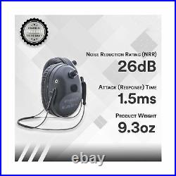 Pro Ear Muff Electronic Hearing Protection Behind Head Comfort Black GSPT300BH8