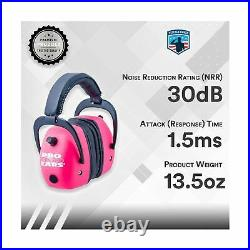 Pro Ear Muffs Electronic Hearing Protection Amplification Shooting Range Pink