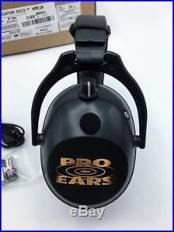 Pro Ears PREDATOR GOLD Electronic Earmuffs Hearing, Black, NRR 26 dB GSP300B
