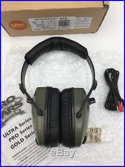 Pro Ears PRO-TAC SLIM GOLD NRR 28 Mil-Spec Electronic Ear Muffs, Green, GS-PTS-G