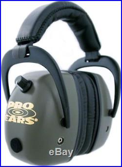 Pro-Ears Pro Mag Gold Hearing Protection Headset, Green Ear Muffs GSDPMG