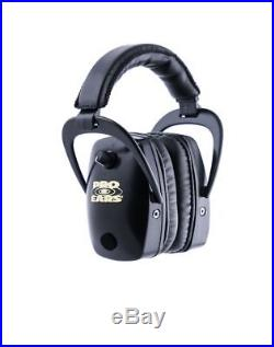 Pro-Ears Pro Slim Gold Electronic Earmuffs, Black Ear Muffs GSDPSB