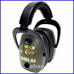 Pro-Ears Pro Slim Gold Electronic Earmuffs, Green GSDPSG