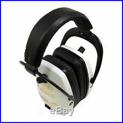 Pro-Ears Pro Slim Gold Electronic Earmuffs, White Ear Muffs GS-DPS-White