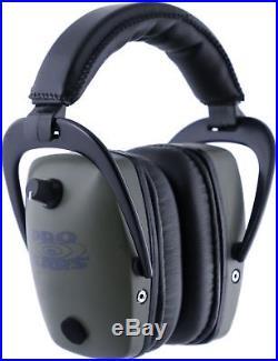 Pro Ears Pro Tac Gold Slim Medium Profile NRR 28 Headset, Green GS-PTS Green