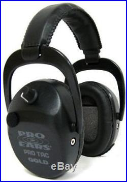 Pro Ears Pro Tac SC Gold Low Profile Low Weight NRR 25 Hearing GS-PTSTL Black