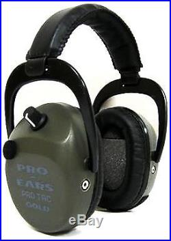 Pro Ears Pro Tac SC Gold Low Profile Low Weight NRR 25 Hearing GS-PTSTL Green