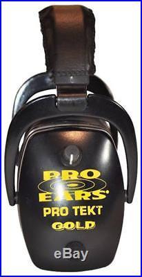 Pro-Ears Pro Tekt Slim Gold Electronic Earmuffs, Black DIS-U- GS2 DIS U Black