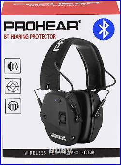 Prohear 030 Electronic Shooting Ear Protection Muffs With Bluetooth, Sound Ampli