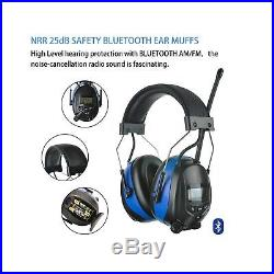 Protear Bluetooth FM/AM Radio Safety Earmuffs Electronic Noise Reduction Audi