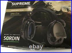 Sordin Supreme Neckband Black Cups AUDIO INPUT (AUX)