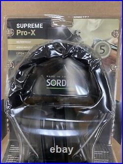 Sordin Supreme Pro-X/L OD Green Cups, Leather Headband and Gel Ear seals