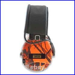 Sordin Supreme Pro X Led earmuffs, orange camo 75302-X-09