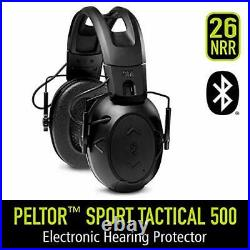 Sport Tactical 500 Smart Electronic Hearing Protector with Peltor Tac 500